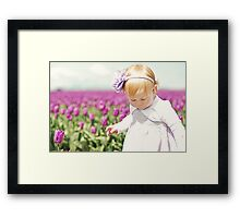 Endless Tulips Framed Print