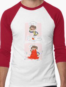 cyclops as a detective Men's Baseball ¾ T-Shirt