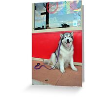 Red Cafe Greeting Card