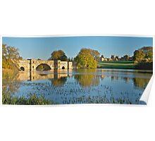 Lakeside at Blenheim Palace Poster