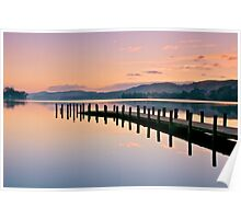 Twilight over Coniston Water Poster