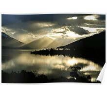 Lake Te Anau. South Island, New Zealand Poster