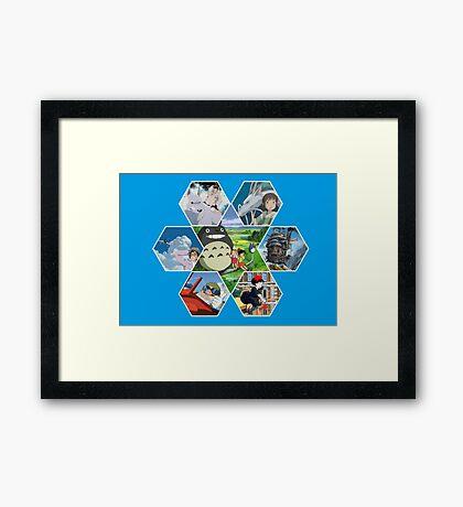 Hayao Miyazaki Films  Framed Print