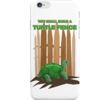 Turtle Fence iPhone Case/Skin
