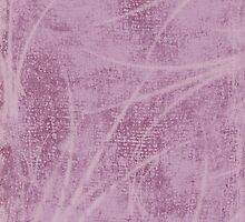 Lavender Cloth Textured With Frond Design by Sandra Foster