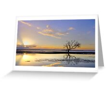 Summer Sunrise - Victoria Pt Qld Australia Greeting Card