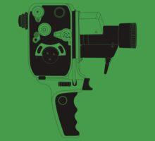 8mm Camera - Bolex - Black Line Art by jphphotography