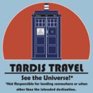 TARDIS Travel Agency (Black) by Anglofile