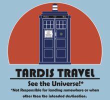 TARDIS Travel Agency (Black) by Anglofile