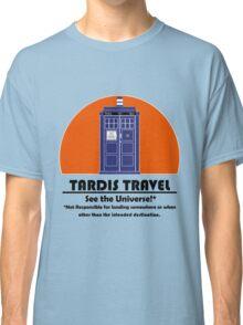 TARDIS Travel Agency (Black) Classic T-Shirt
