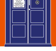 TARDIS Travel Agency (Black) Sticker