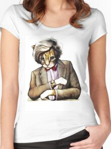 Catt Matt Smith posed as Dos Equis Interesting Man Women's Fitted Scoop T-Shirt