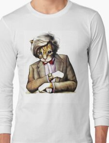 Catt Matt Smith posed as Dos Equis Interesting Man Long Sleeve T-Shirt
