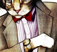 Catt Matt Smith posed as Dos Equis Interesting Man Sticker