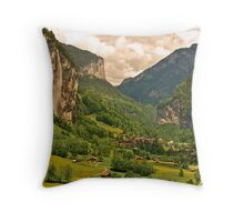 The Lauterbrunnen Valley Throw Pillow