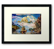 Rocky Mountains after Albert Bierstadt Framed Print