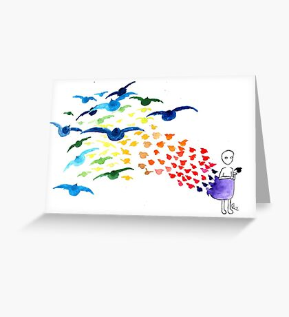 Injured Black Greeting Card