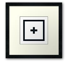 "Alphabet ""+"" Framed Print"