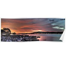 Smiley Face Conjunction Panorama over Brisbane Water Poster
