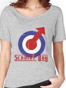 Retro look scooter boy mod target design Women's Relaxed Fit T-Shirt