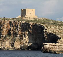 Comino Cliffs & Fort, Malta by Jane McDougall