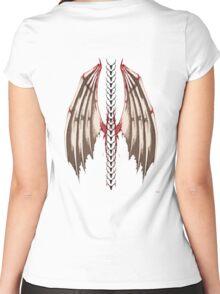 Spine wings Women's Fitted Scoop T-Shirt