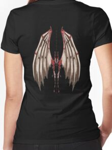 Spine wings Women's Fitted V-Neck T-Shirt