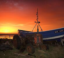 Tractor and Coble by Paul Davis