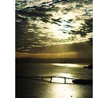 Sunlit Harbour Photographic Print