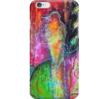 Mixed Media Bird iPhone Case/Skin