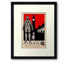 Visit London, Most Invaded City in the Whoniverse! Framed Print