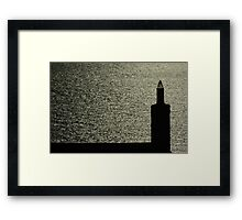 Chimney By The Sea Framed Print