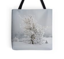 Small Mountain Tree in Snow - landscape Tote Bag