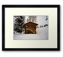 Two Storey Ski Toilet Framed Print