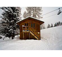 Two Storey Ski Toilet Photographic Print
