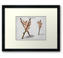 Stick in the Mud Framed Print