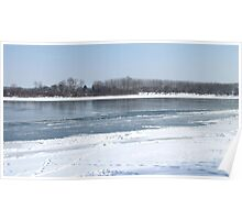 River Sava Under Ice - 2 Poster