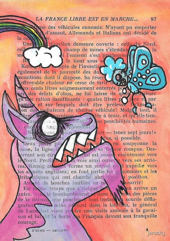 Butterfly Vs Unicorn by jerasky