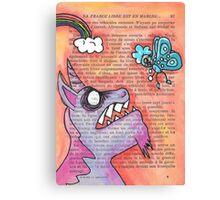 Butterfly Vs Unicorn Canvas Print