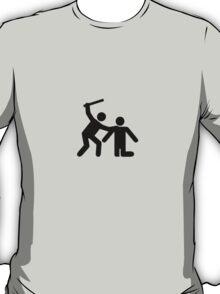 Pictogram man attack! T-Shirt