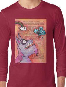 Butterfly Vs Unicorn Long Sleeve T-Shirt