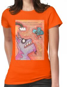 Butterfly Vs Unicorn Womens Fitted T-Shirt