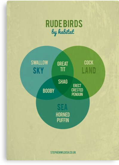 Rude Birds by Habitat by Stephen Wildish