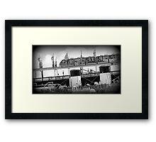Monarail in Darling Harbour Framed Print