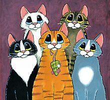 A Feline Family Portrait by Lisa Marie Robinson