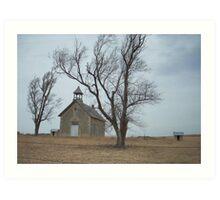 Kansas Church Art Print