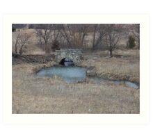 Kansas Stone Bridge Art Print