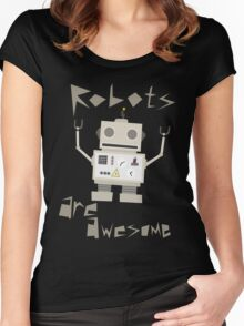 Robots Are Awesome Women's Fitted Scoop T-Shirt