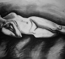 Untitled Reclining Figure by Julia Burton