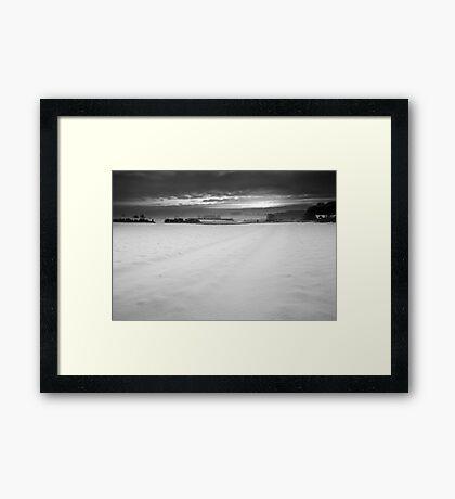 A Cut Across Winter's Cold White Veil Framed Print